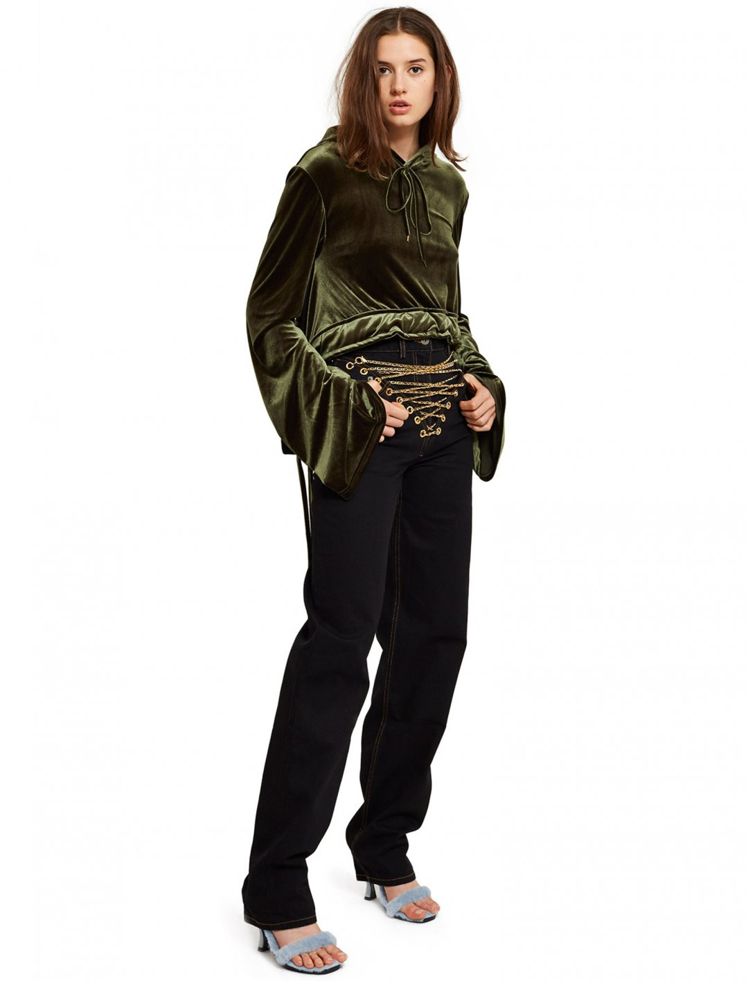"""Cropped Velvet Hoodie {""""id"""":5,""""product_section_id"""":1,""""name"""":""""Clothing"""",""""order"""":5} Y/Project"""