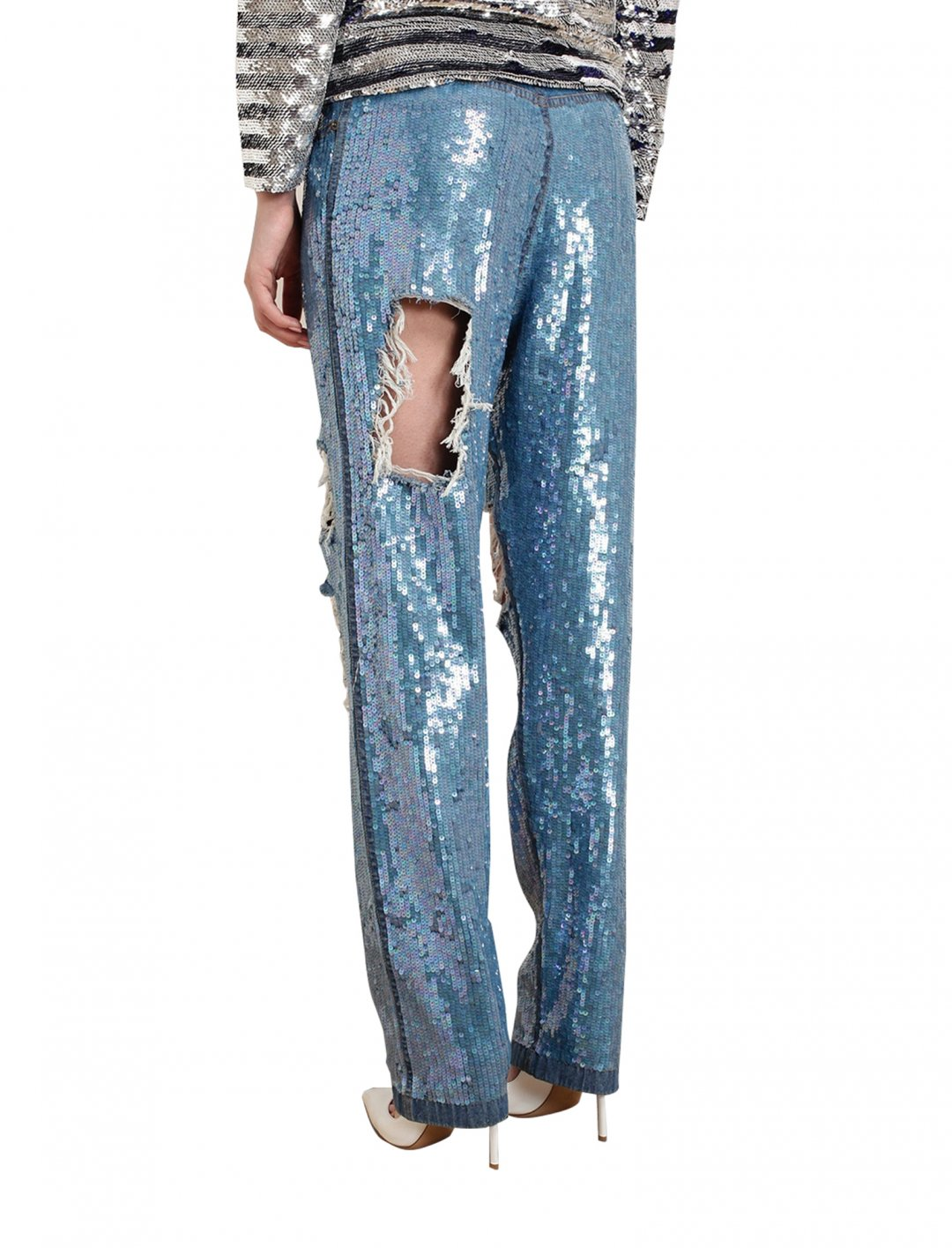 """Distressed Sequin Denim Jeans {""""id"""":5,""""product_section_id"""":1,""""name"""":""""Clothing"""",""""order"""":5} Ashish"""