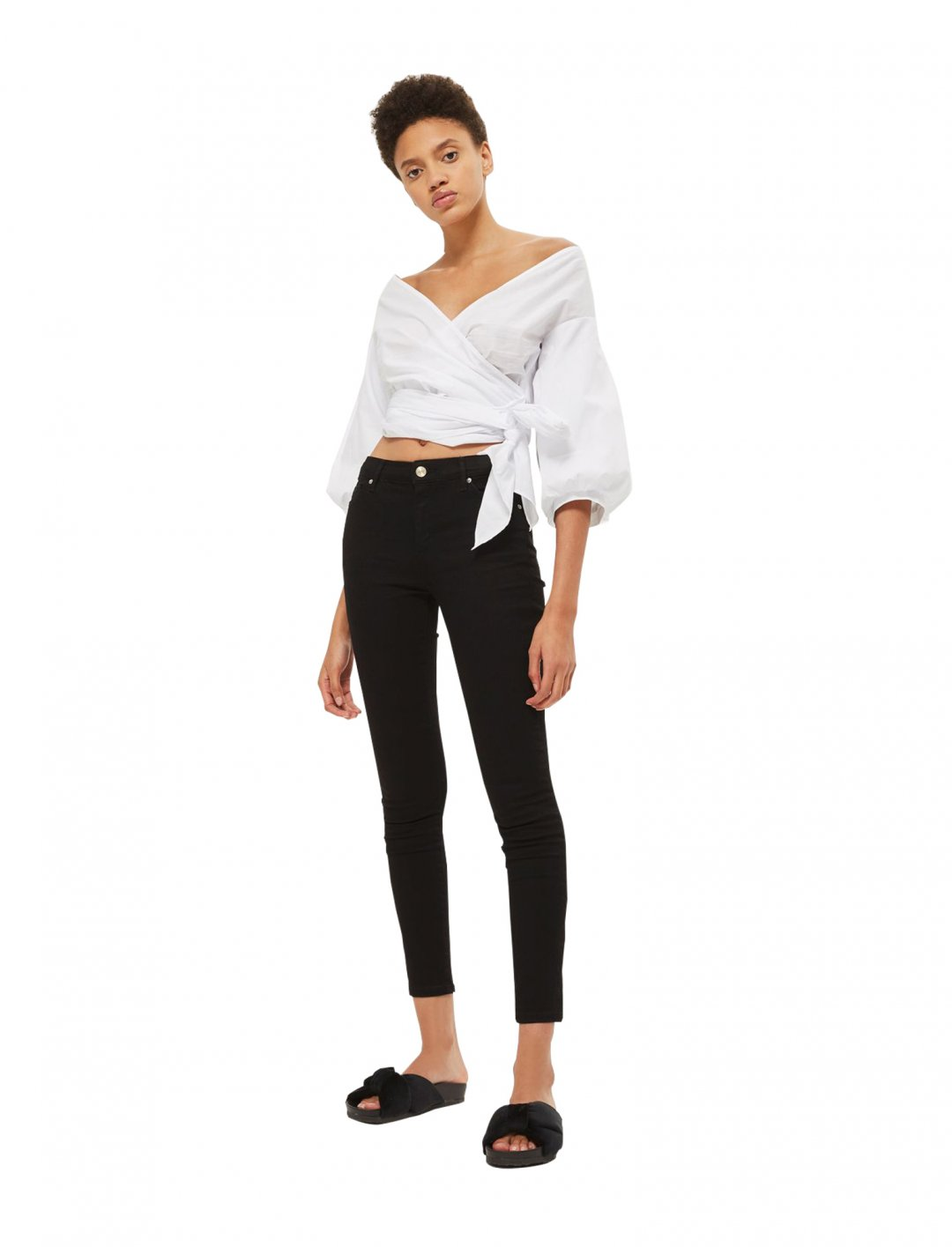 """Olivia's Black Sidney Jeans {""""id"""":5,""""product_section_id"""":1,""""name"""":""""Clothing"""",""""order"""":5} Topshop"""