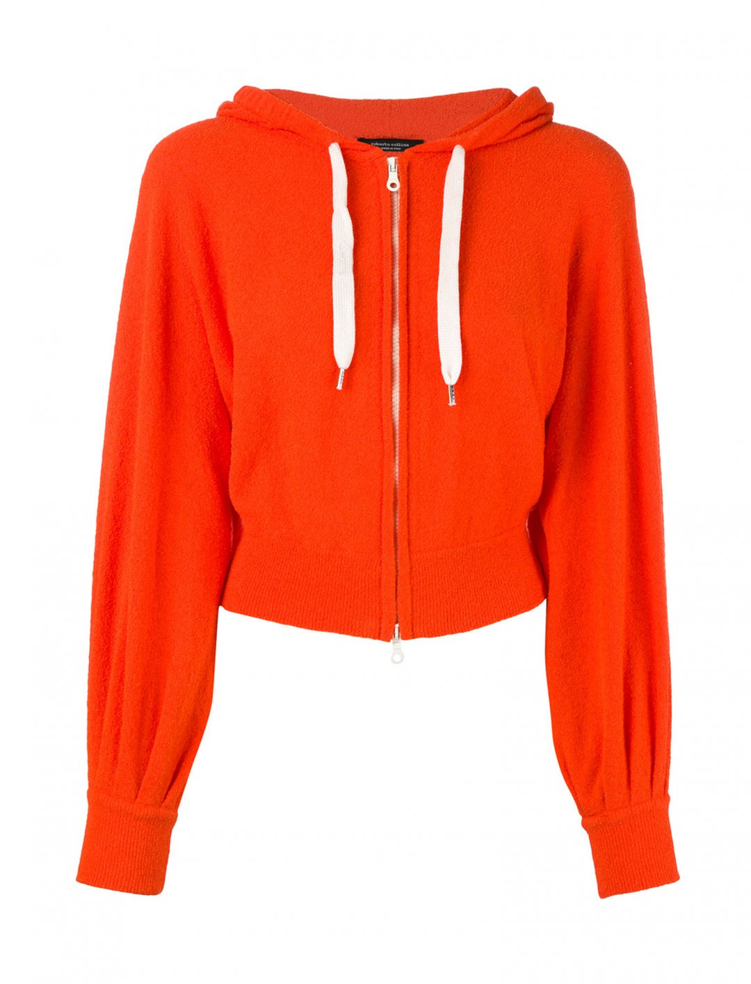Cropped Zip Front Hoodie Clothing Roberto Collina