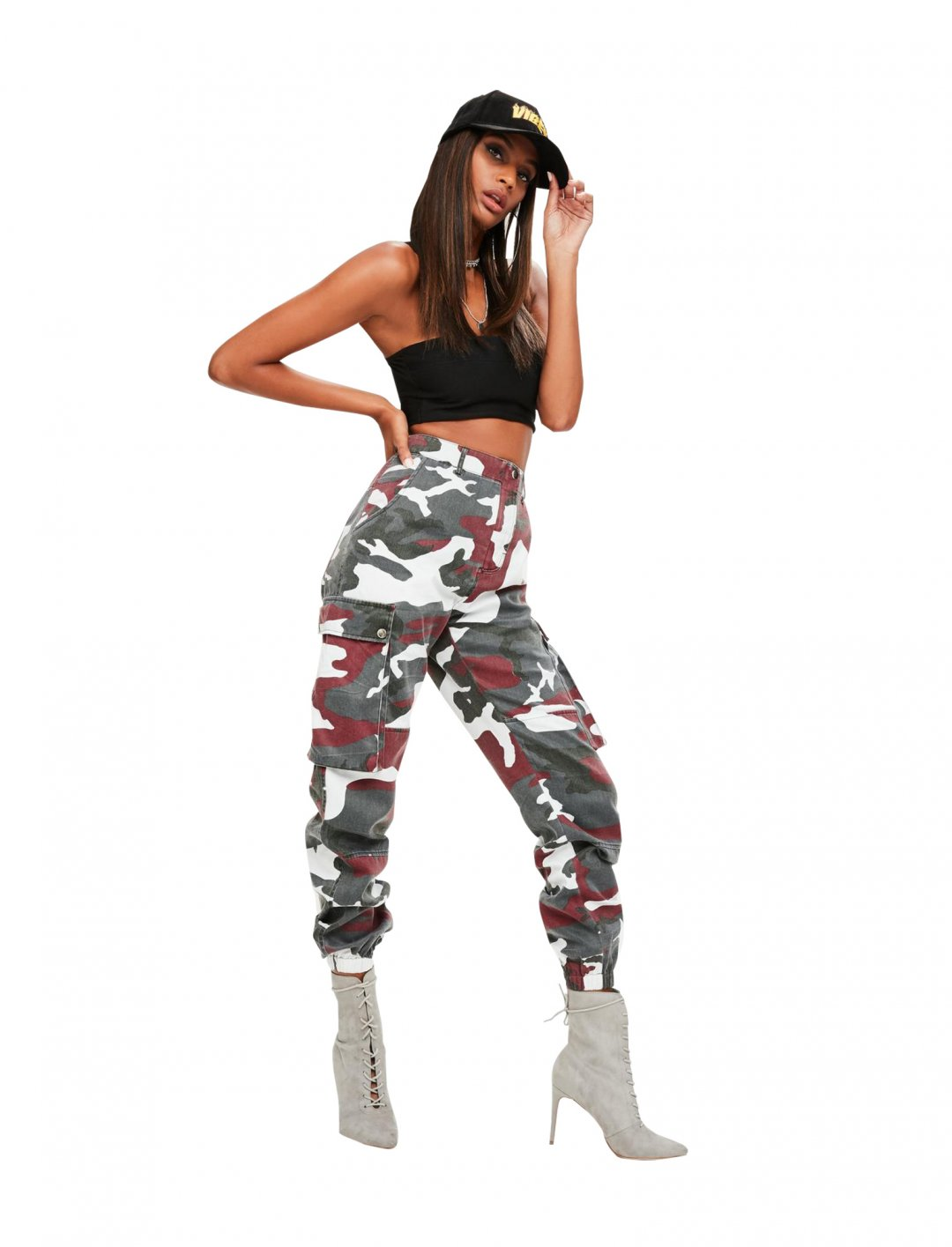 """Red Camo Pants {""""id"""":5,""""product_section_id"""":1,""""name"""":""""Clothing"""",""""order"""":5} Missguided"""