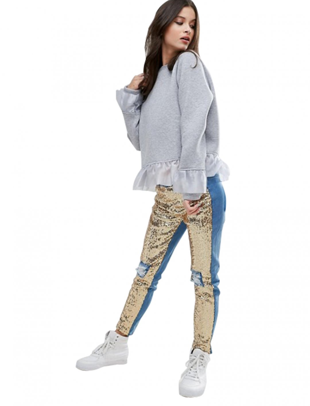 """Distressed Sequin Front Skinny Jeans {""""id"""":5,""""product_section_id"""":1,""""name"""":""""Clothing"""",""""order"""":5} Kubban"""