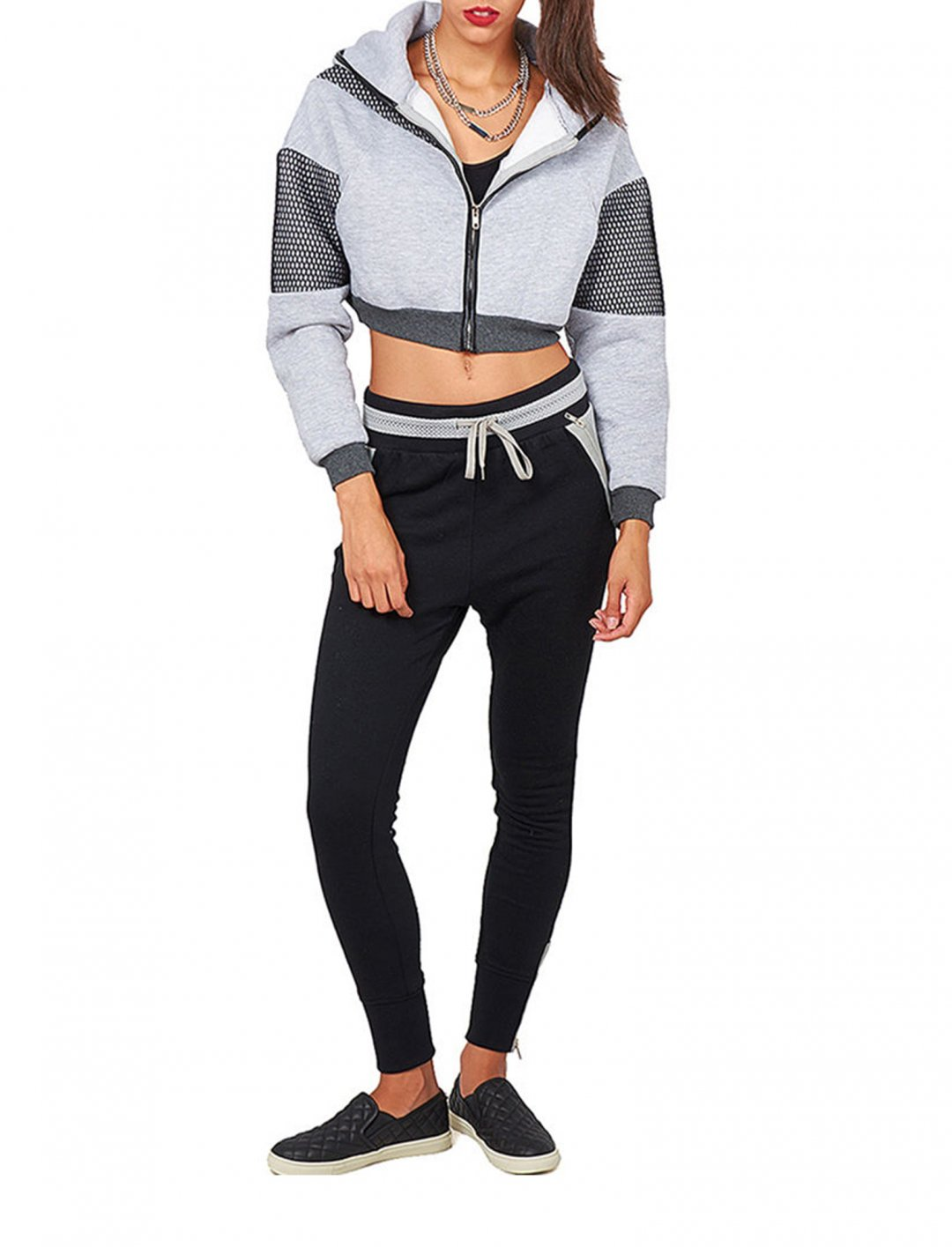 """Crop Fishnet Detail Jacket {""""id"""":5,""""product_section_id"""":1,""""name"""":""""Clothing"""",""""order"""":5}"""