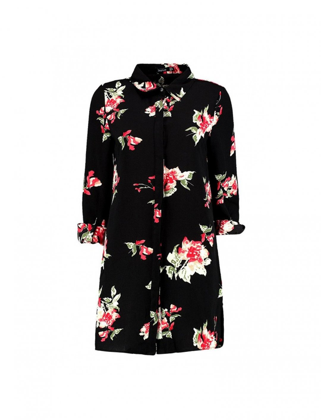 """Floral Shirt Dress {""""id"""":5,""""product_section_id"""":1,""""name"""":""""Clothing"""",""""order"""":5} Boohoo"""