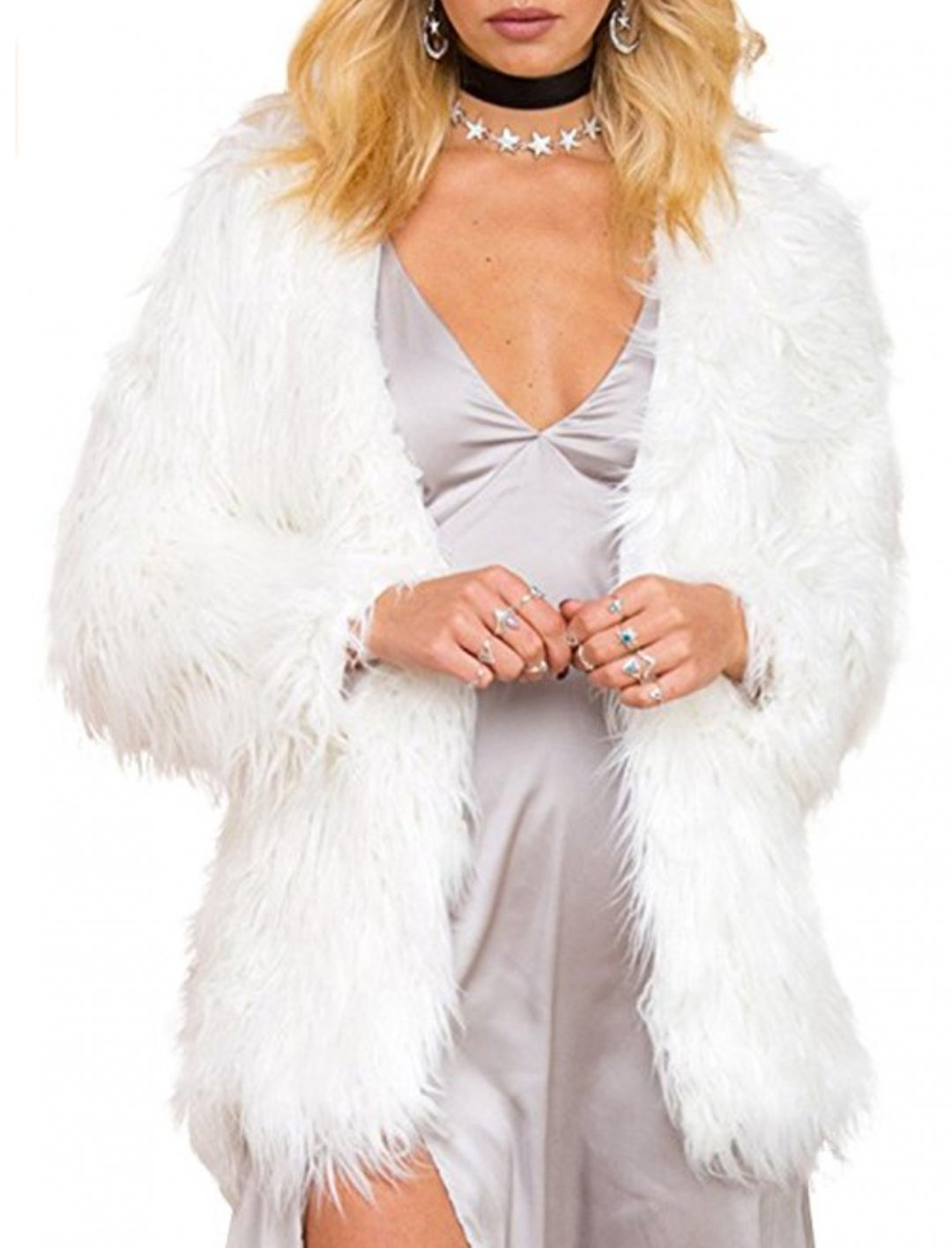 "Faux Fur Hair Coat {""id"":5,""product_section_id"":1,""name"":""Clothing"",""order"":5} Simplee Apparel"