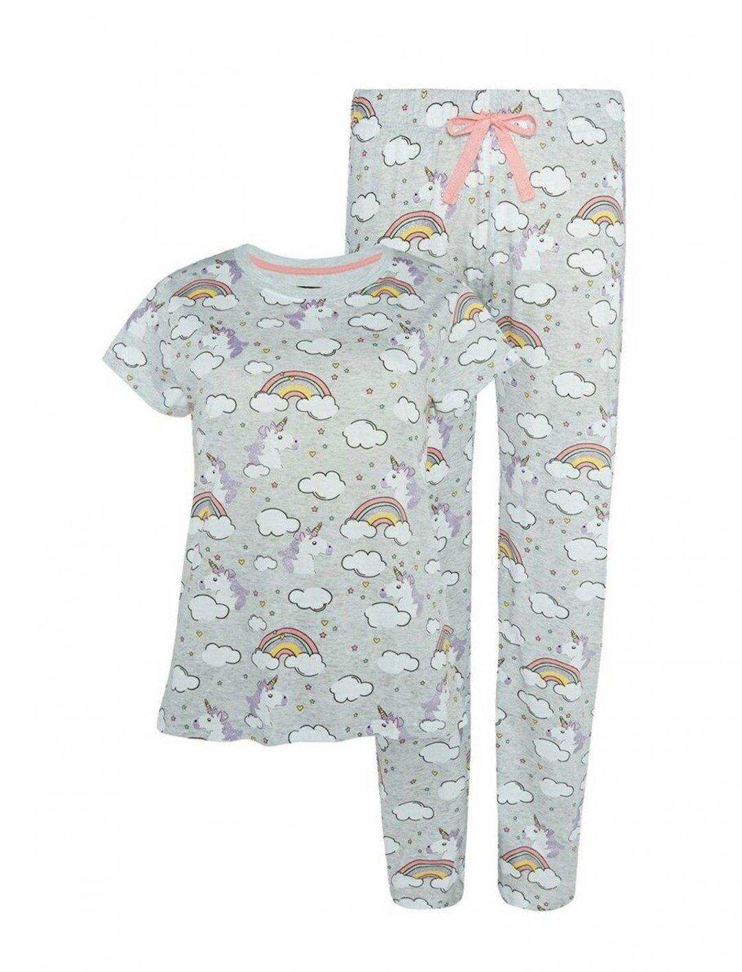 """Unicorn Rainbow Pyjama Set {""""id"""":5,""""product_section_id"""":1,""""name"""":""""Clothing"""",""""order"""":5} Primark"""