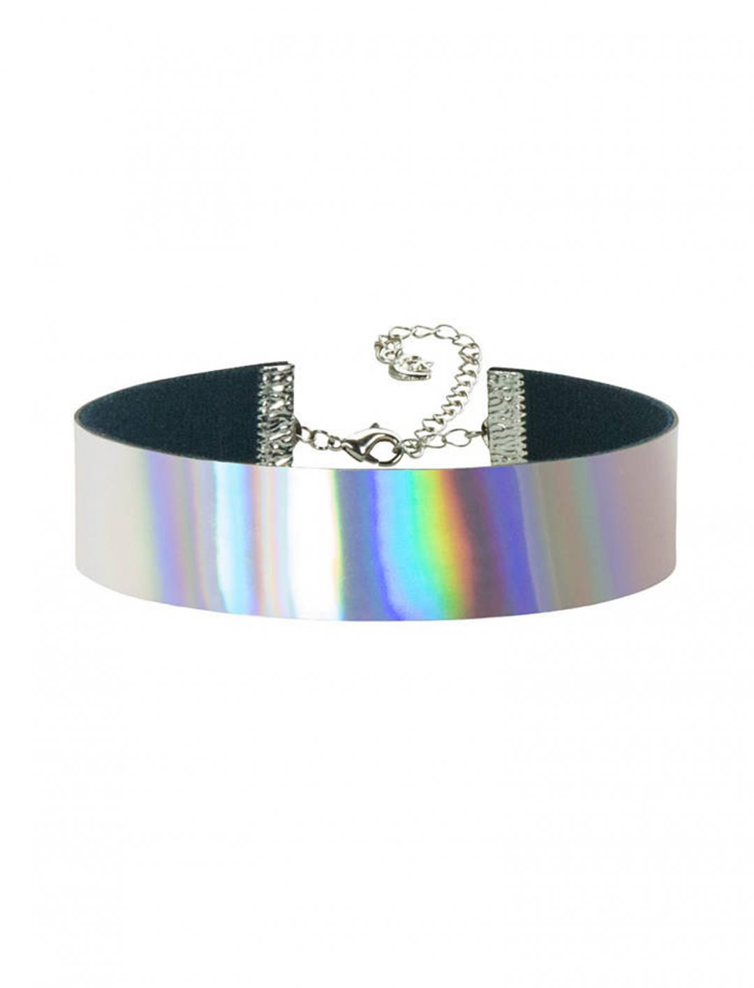 "Rainbow Holographic Choker {""id"":16,""product_section_id"":1,""name"":""Accessories"",""order"":15} Etsy"