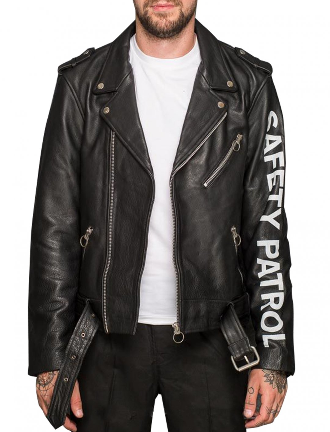 "Not3s' Leather Biker Jacket {""id"":5,""product_section_id"":1,""name"":""Clothing"",""order"":5} Soulland Richenback"