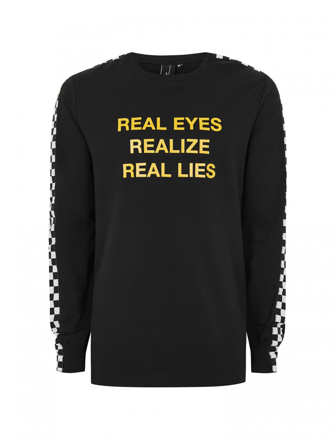 "'Real Lies' T-Shirt {""id"":5,""product_section_id"":1,""name"":""Clothing"",""order"":5} Criminal Damage"