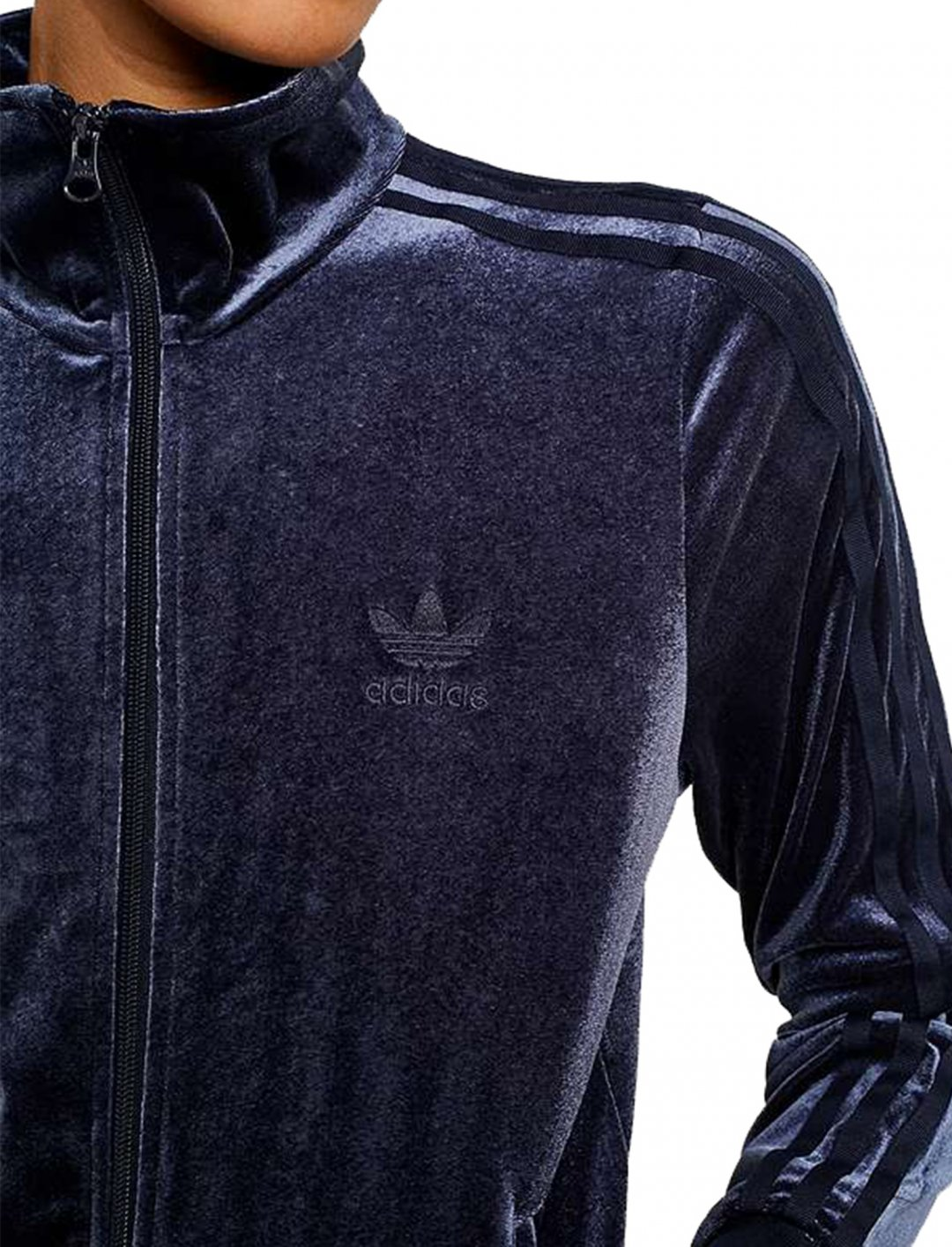 "Navy Velvet Track Jacket {""id"":5,""product_section_id"":1,""name"":""Clothing"",""order"":5} Adidas"
