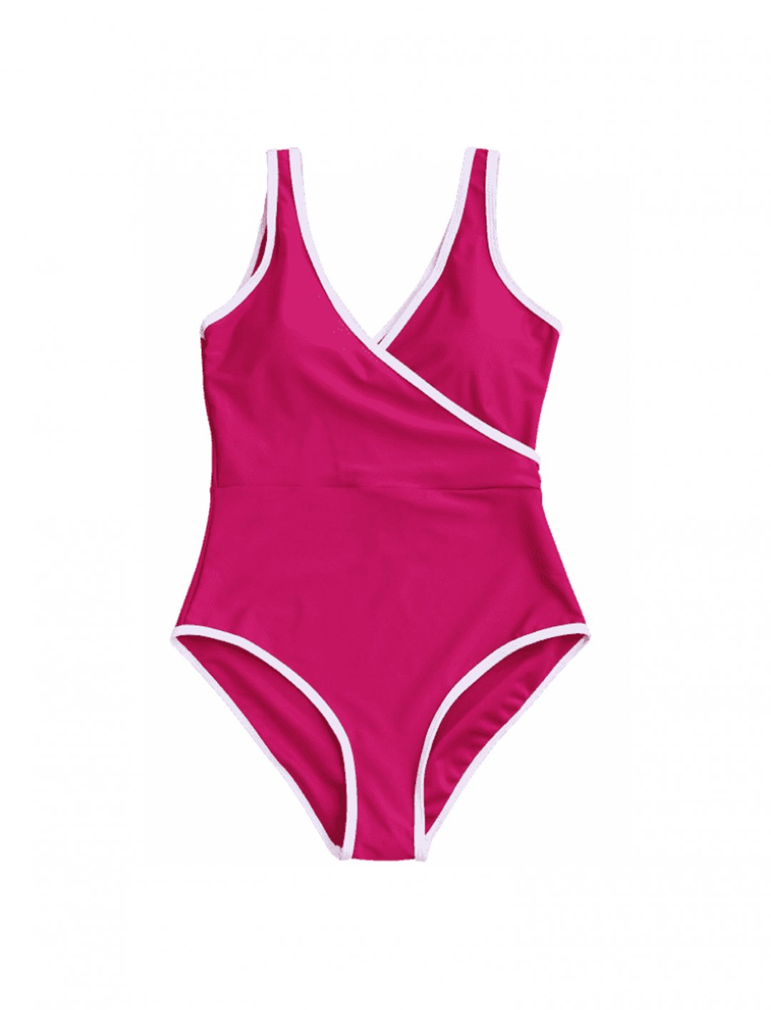 Contrast Trim Swimsuit Clothing Zaful