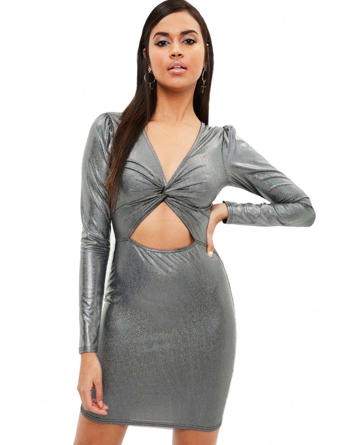 "Cut Out Bodycon Dress {""id"":5,""product_section_id"":1,""name"":""Clothing"",""order"":5} Missguided"