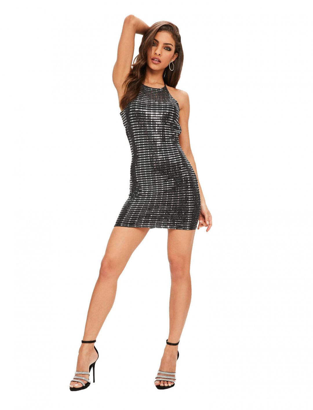 "Strappy Sequin dress {""id"":5,""product_section_id"":1,""name"":""Clothing"",""order"":5} Missguided"