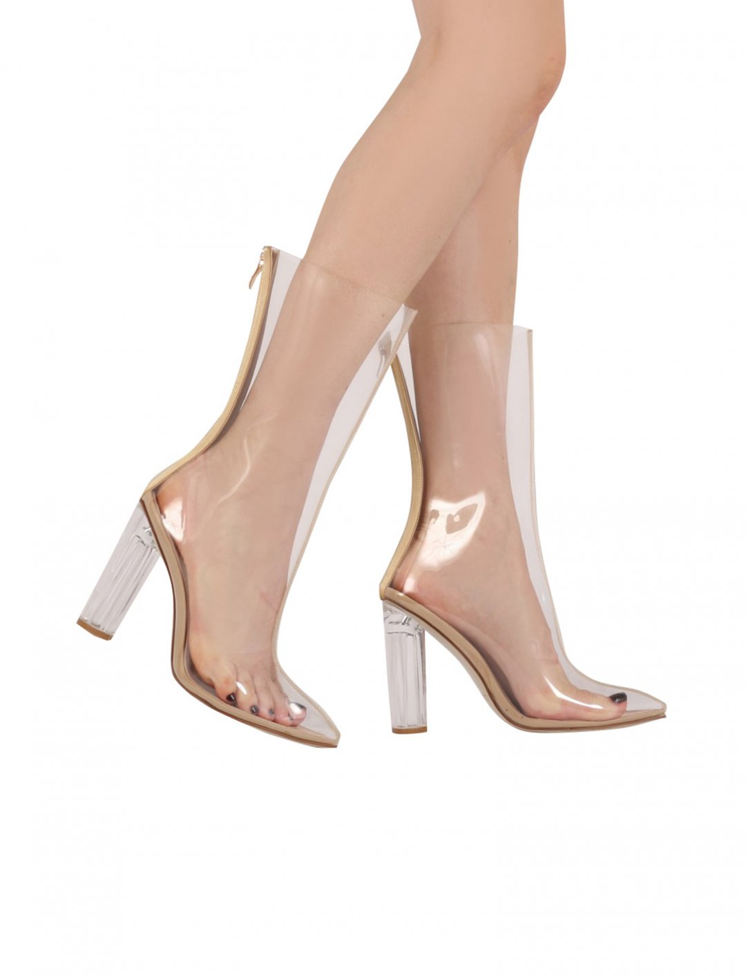 """Briella Perspex Heel Boots {""""id"""":12,""""product_section_id"""":1,""""name"""":""""Shoes"""",""""order"""":12} Public Desire"""