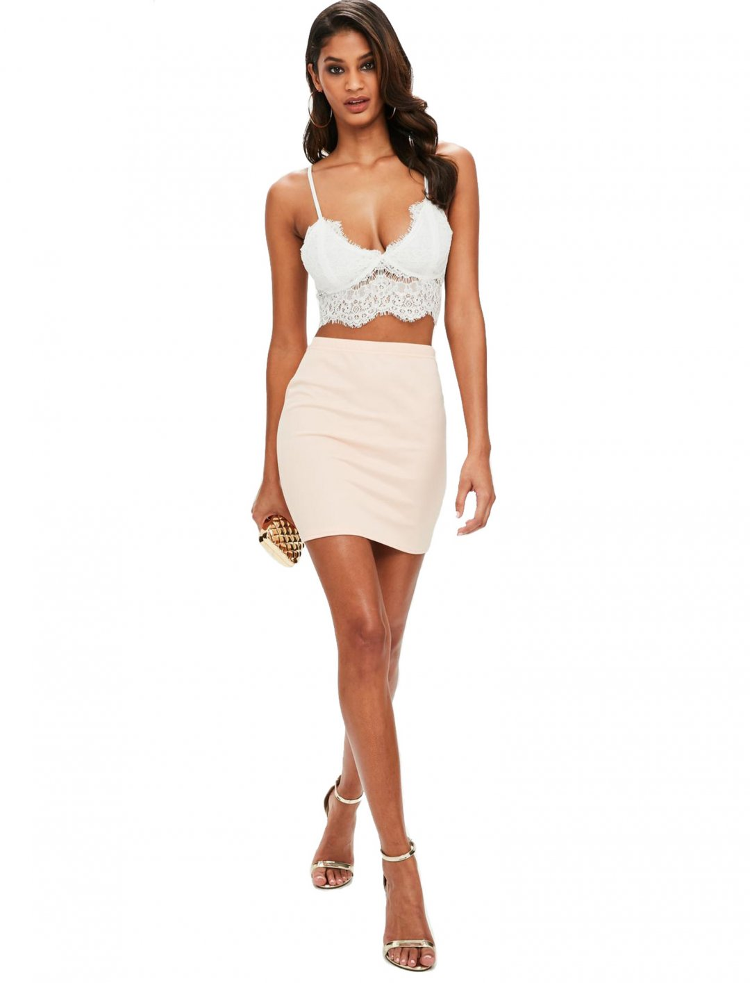 """Cropped Lace Bralet {""""id"""":5,""""product_section_id"""":1,""""name"""":""""Clothing"""",""""order"""":5} Missguided"""
