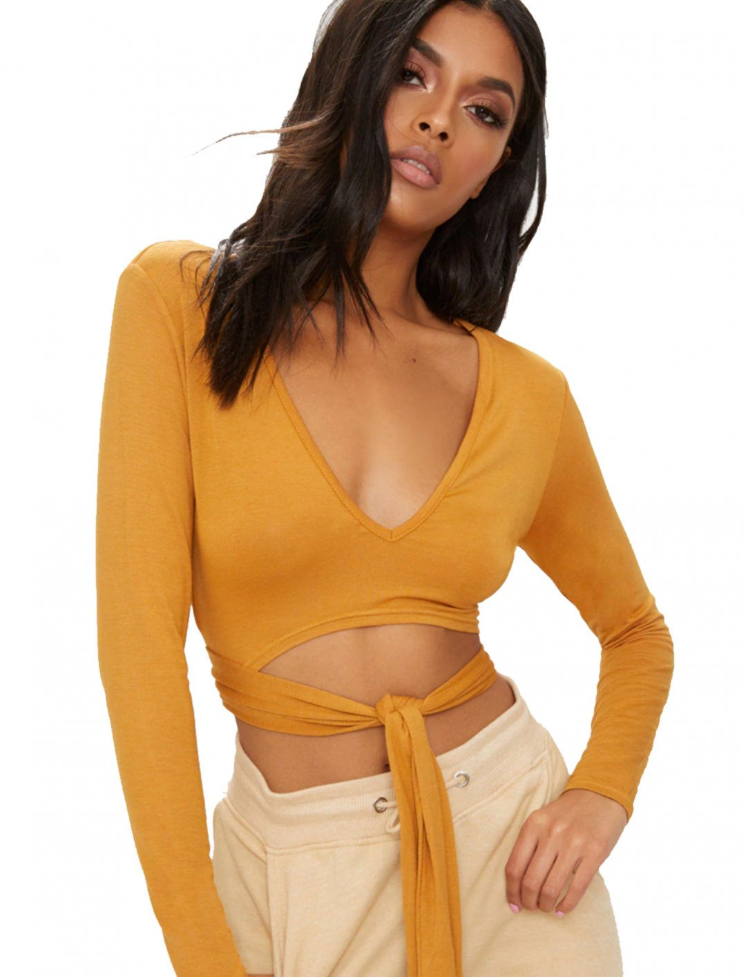 """Wrap Front Crop Top {""""id"""":5,""""product_section_id"""":1,""""name"""":""""Clothing"""",""""order"""":5} PLT"""