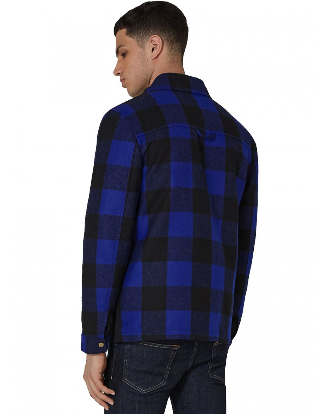 "Blue Check Trucker Jacket {""id"":5,""product_section_id"":1,""name"":""Clothing"",""order"":5} Topman"