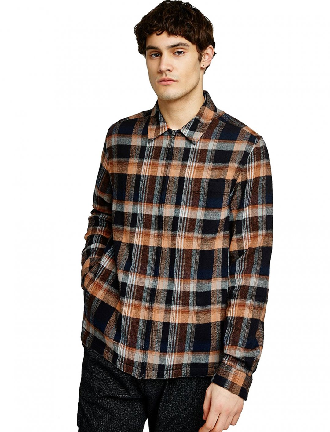 "Zip Through Check Shirt {""id"":5,""product_section_id"":1,""name"":""Clothing"",""order"":5} Topman"