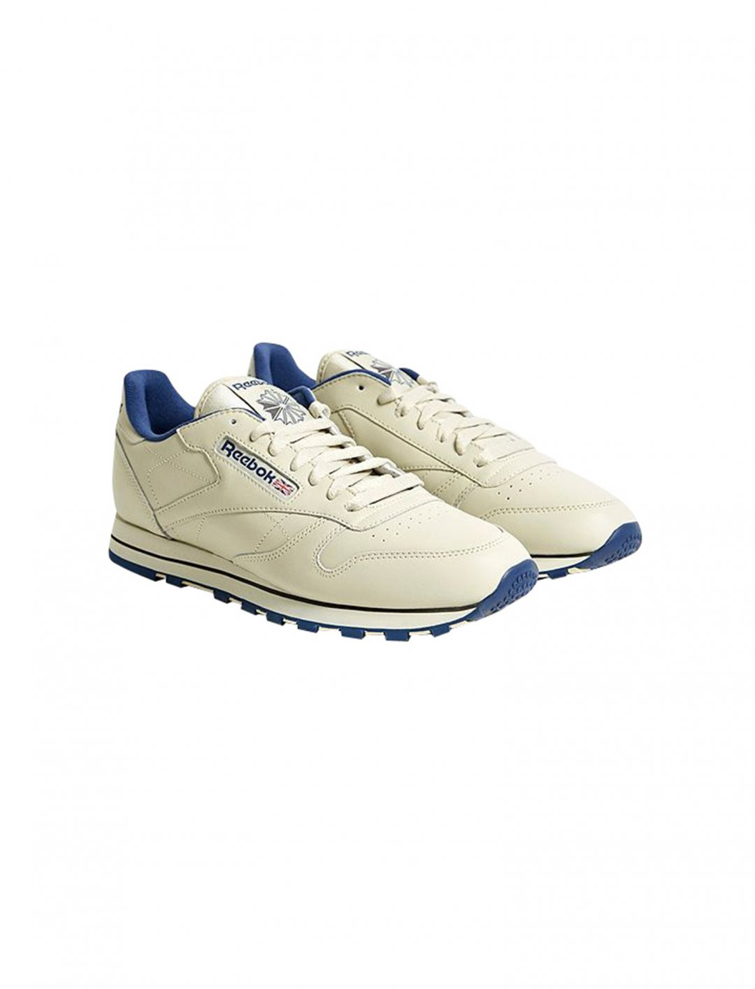 "Cream Leather Trainers {""id"":12,""product_section_id"":1,""name"":""Shoes"",""order"":12} Reebok"