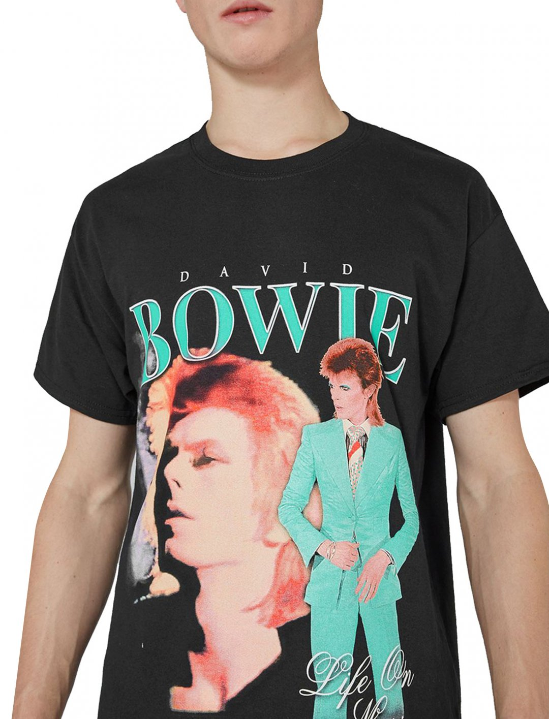 "Topman David Bowie T-Shirt {""id"":5,""product_section_id"":1,""name"":""Clothing"",""order"":5} Topman"