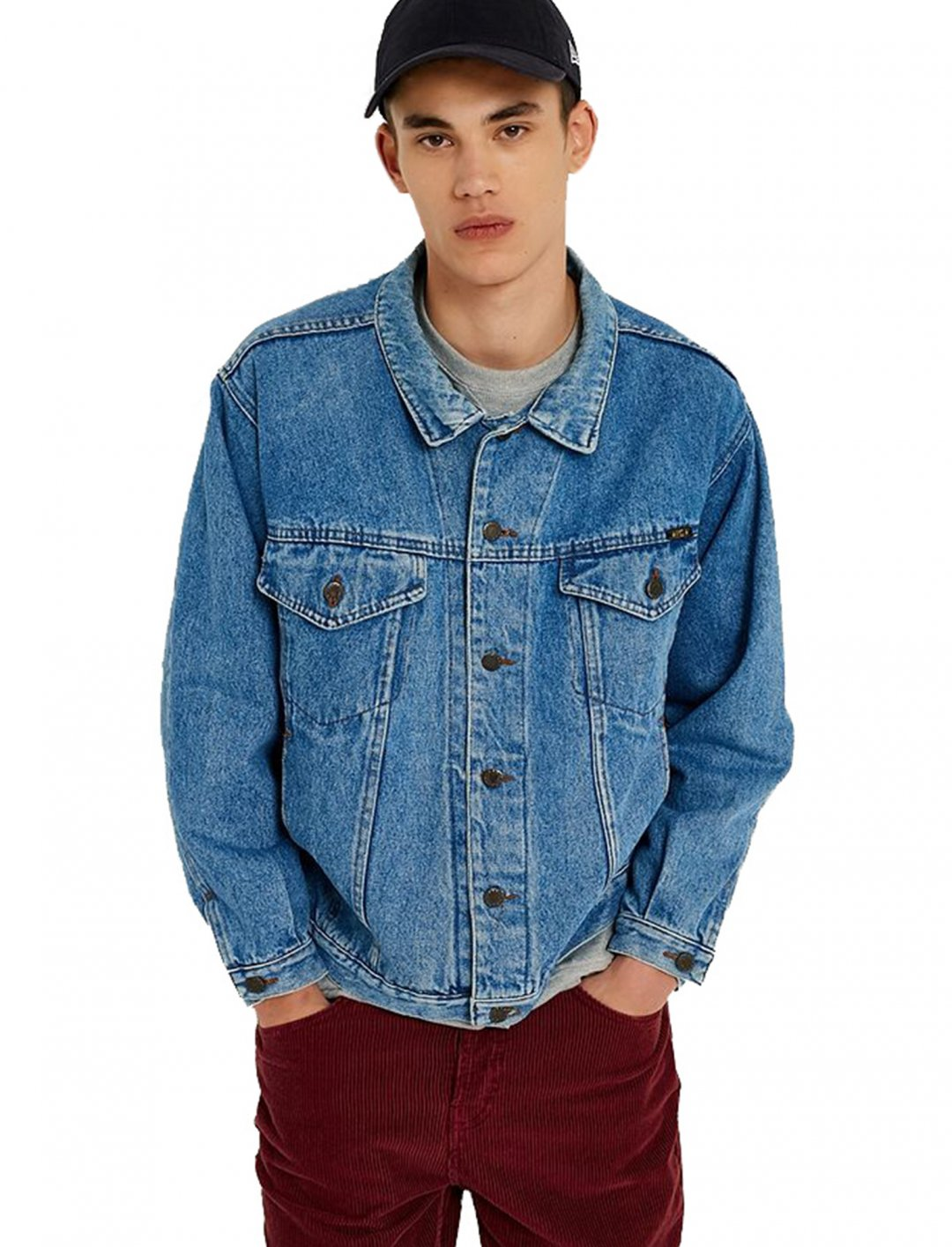 "Dark Wash Denim Jacket {""id"":5,""product_section_id"":1,""name"":""Clothing"",""order"":5} Urban Outfitters"