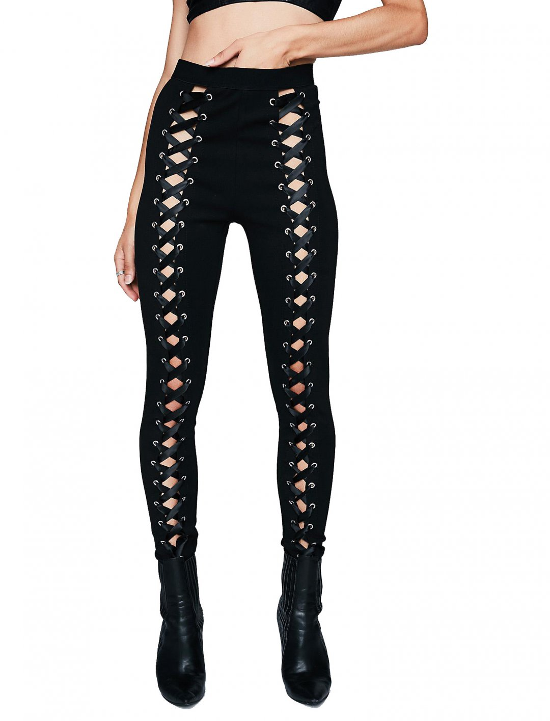 "Lace-Up Leggings {""id"":5,""product_section_id"":1,""name"":""Clothing"",""order"":5} Poster Girl"