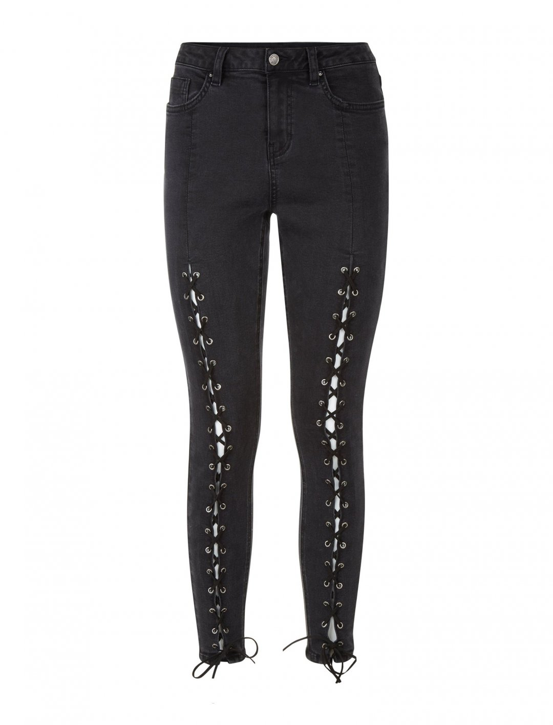 "Lace Up Front Jeans {""id"":5,""product_section_id"":1,""name"":""Clothing"",""order"":5} New Look"
