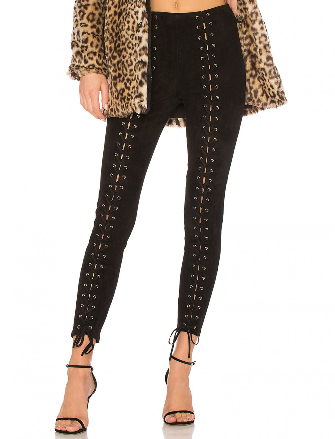 "Suede Lace-Up Leggings {""id"":5,""product_section_id"":1,""name"":""Clothing"",""order"":5} LPA"