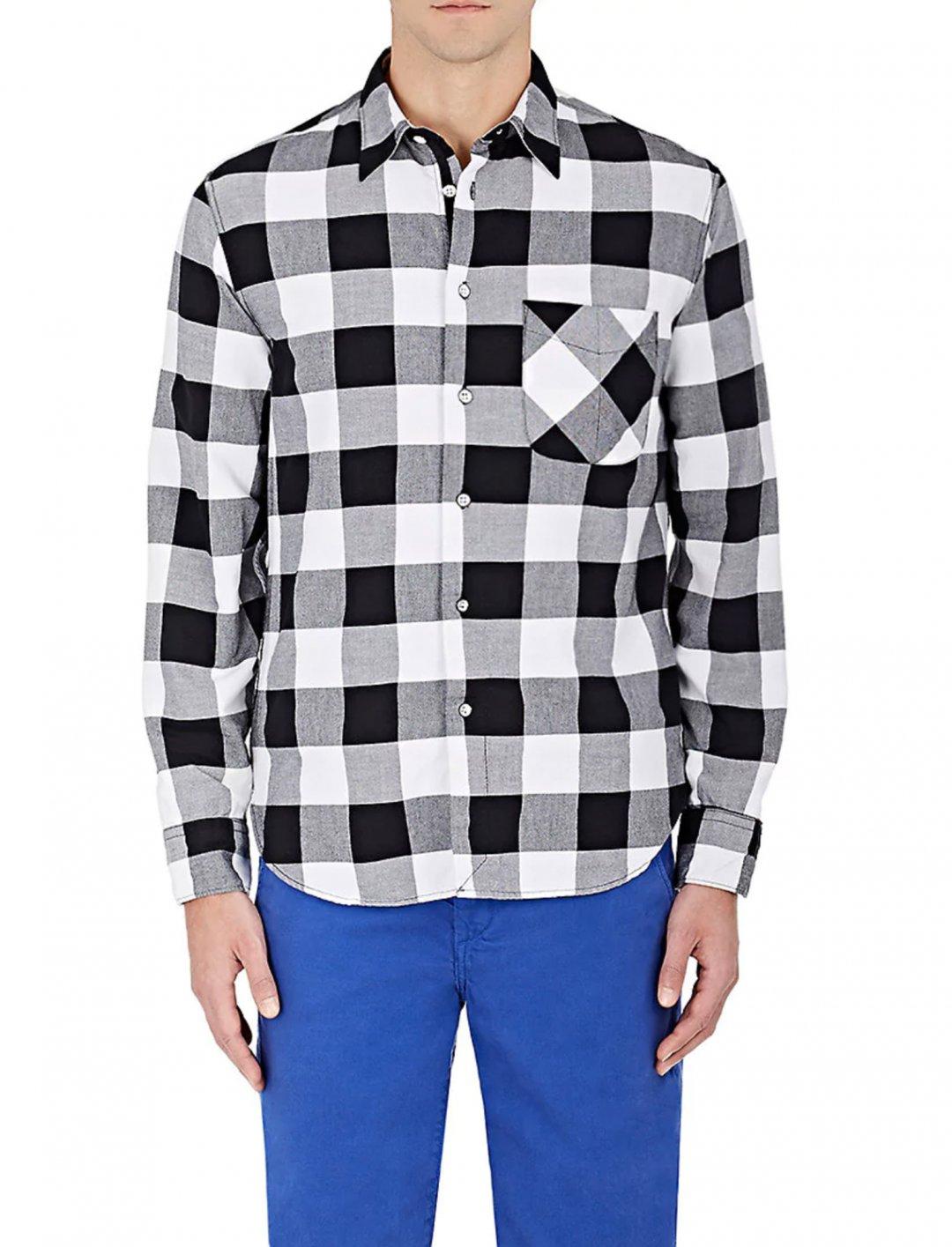 Timberlake's Buffalo-Checked Cotton Shirt Clothing Rag & Bone