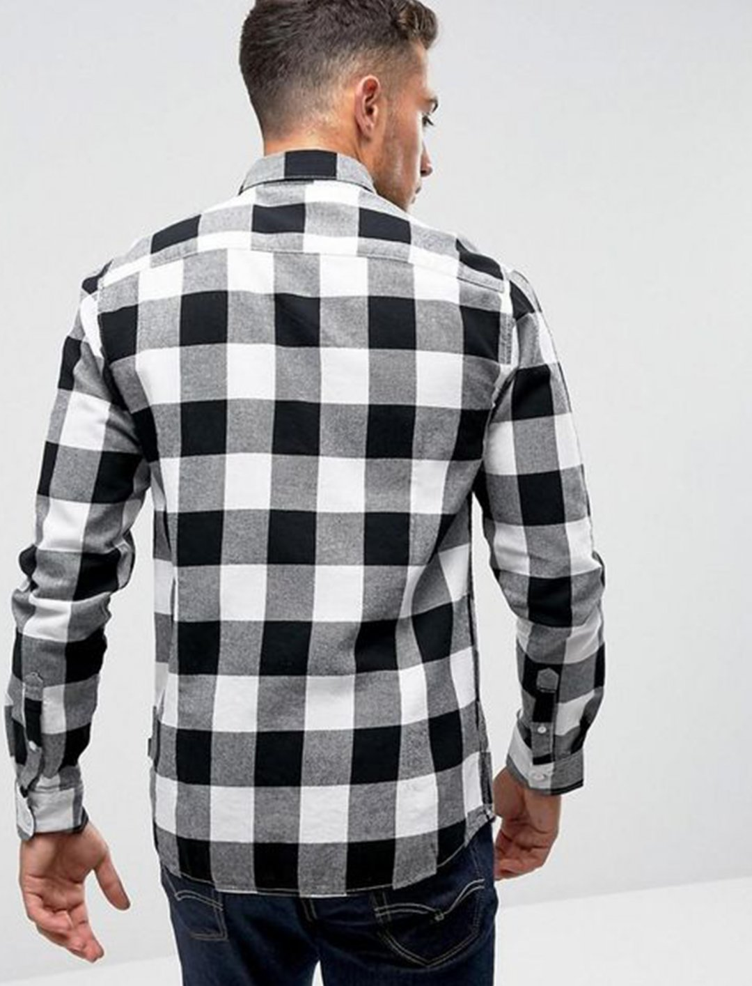 """Shirt In Black Check {""""id"""":5,""""product_section_id"""":1,""""name"""":""""Clothing"""",""""order"""":5} boohooMAN"""