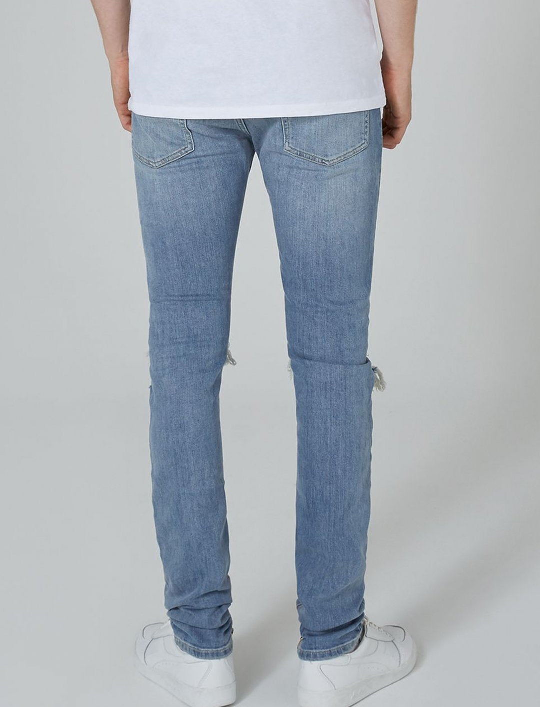"""Light Wash Stacker Jeans {""""id"""":5,""""product_section_id"""":1,""""name"""":""""Clothing"""",""""order"""":5} Topman"""