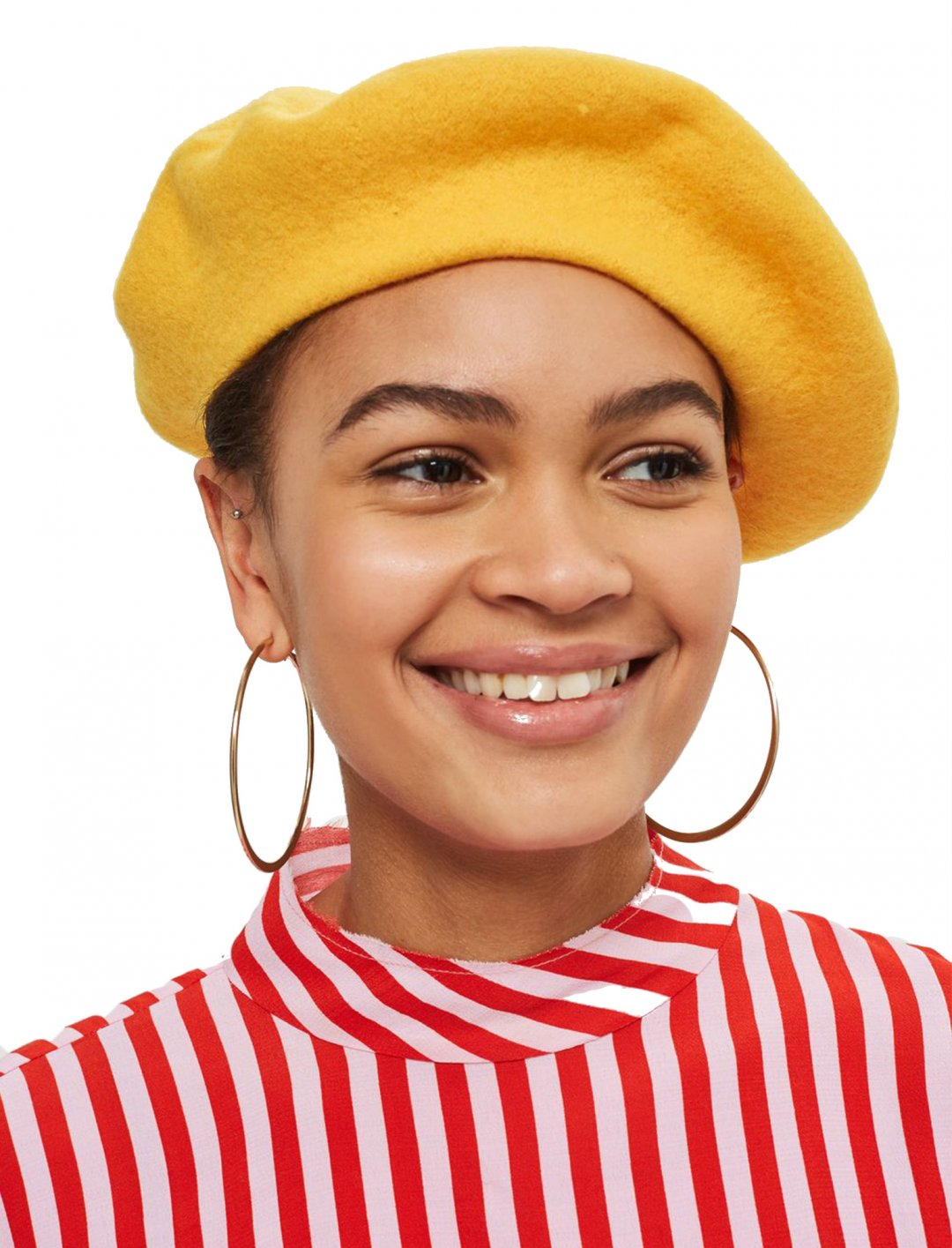 "Grace's Yellow Beret {""id"":16,""product_section_id"":1,""name"":""Accessories"",""order"":15} Topshop"
