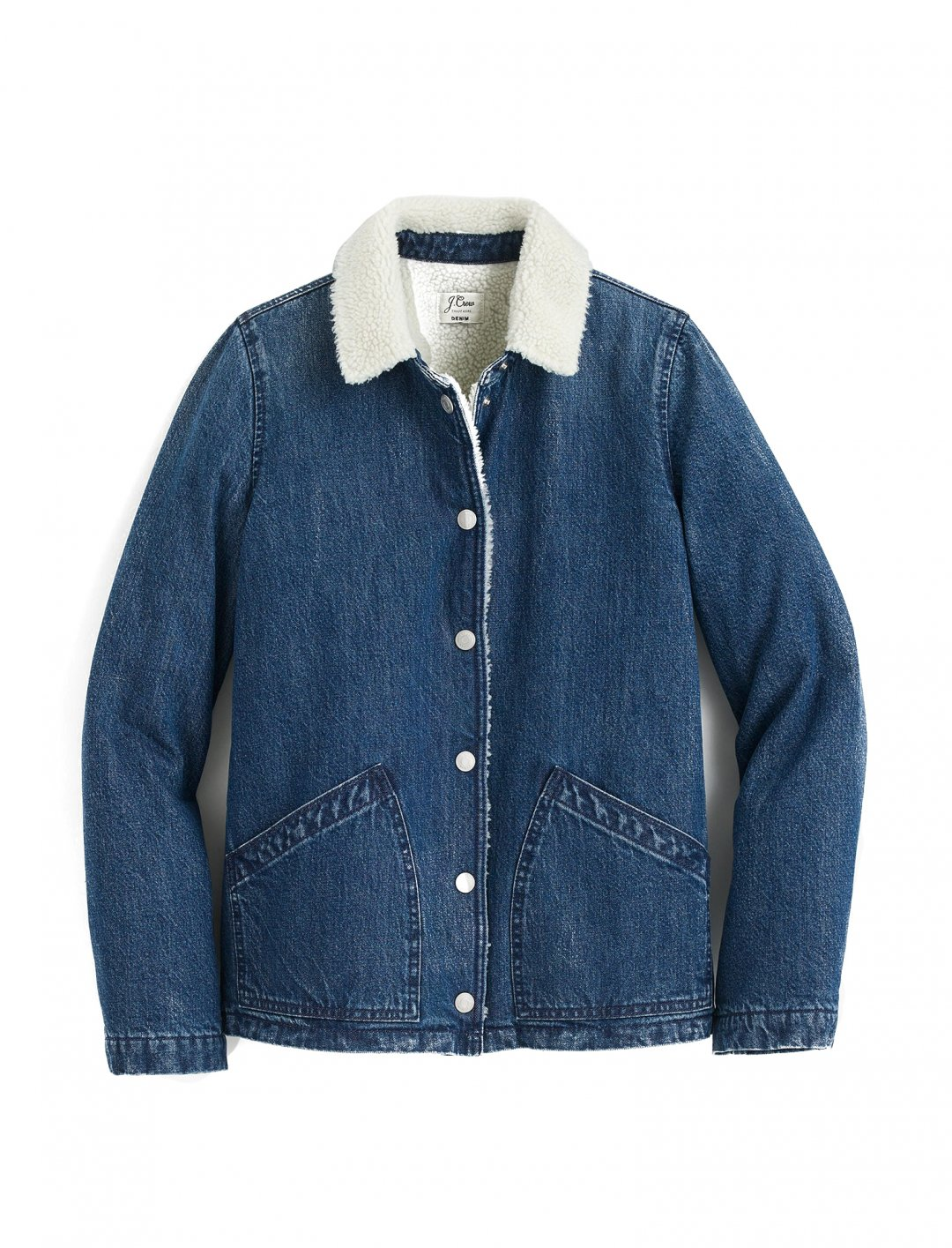 "Grace's Denim Sherpa Jacket {""id"":5,""product_section_id"":1,""name"":""Clothing"",""order"":5} J. Crew"