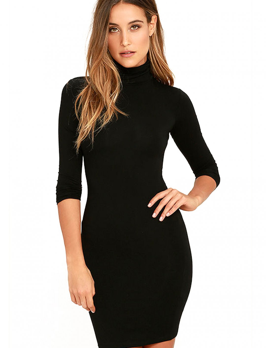"Grace's Black Bodycon Dress {""id"":5,""product_section_id"":1,""name"":""Clothing"",""order"":5} Lulus"