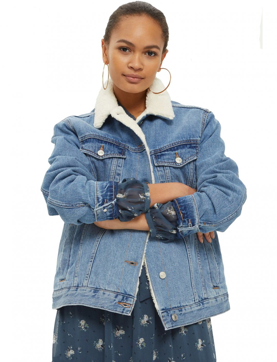 "Oversized Borg Jacket {""id"":5,""product_section_id"":1,""name"":""Clothing"",""order"":5} Moto"
