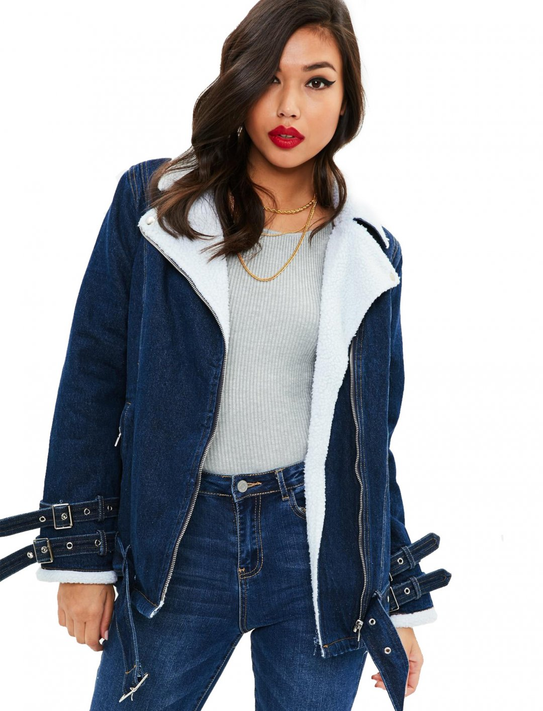 "Denim Aviator Jacket {""id"":5,""product_section_id"":1,""name"":""Clothing"",""order"":5} Missguided"