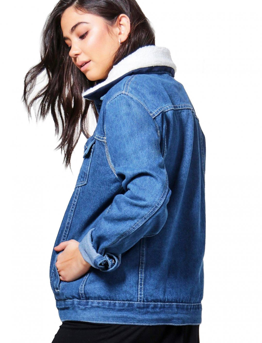 "Oversize Denim Jacket {""id"":5,""product_section_id"":1,""name"":""Clothing"",""order"":5} Boohoo"