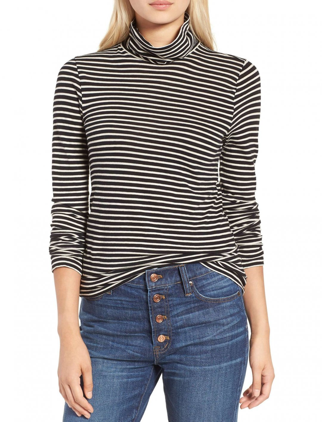 "Stripe Tissue Turtleneck Tee {""id"":5,""product_section_id"":1,""name"":""Clothing"",""order"":5} J. Crew"