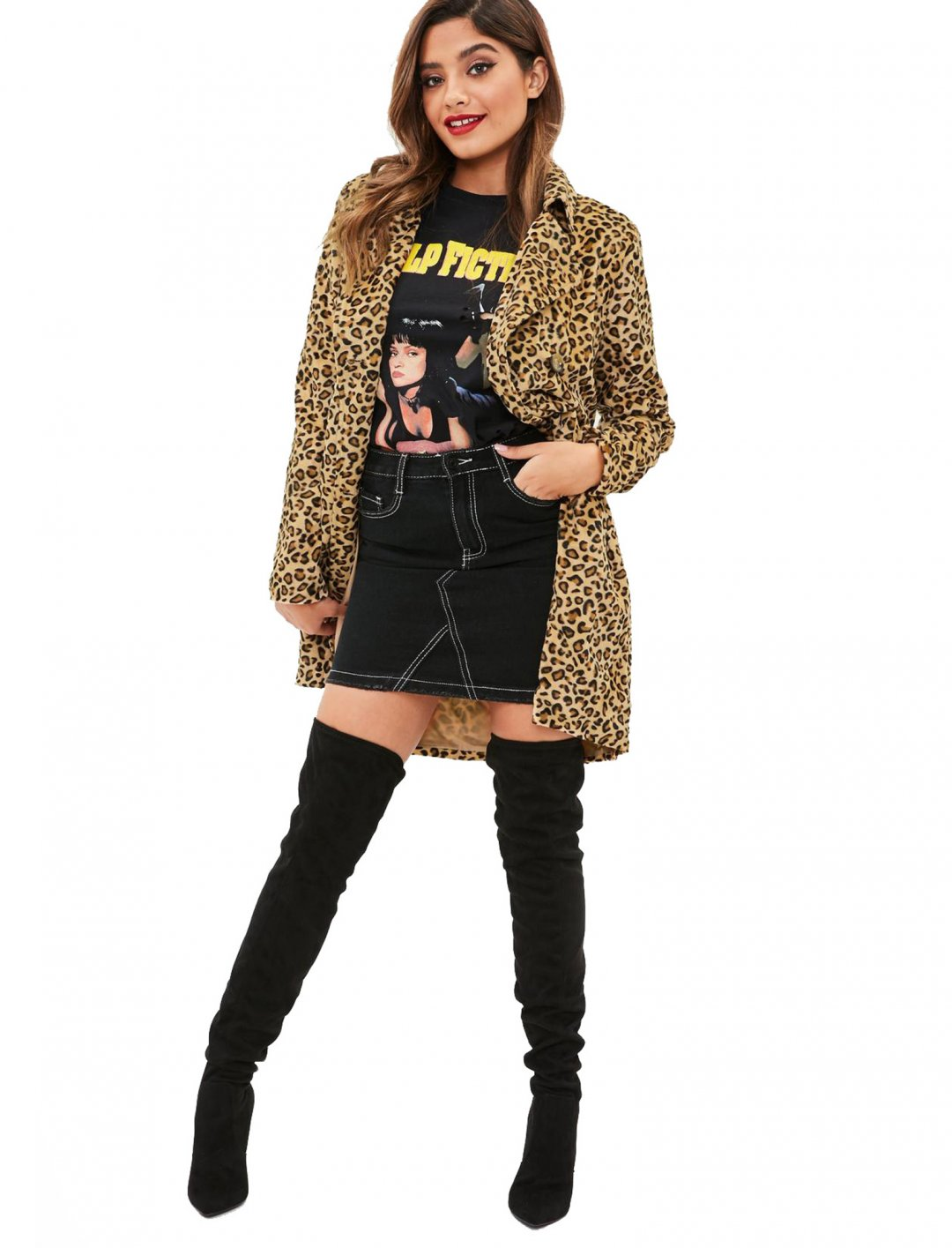 "Leopard Print Trench Coat {""id"":5,""product_section_id"":1,""name"":""Clothing"",""order"":5} Missguided"