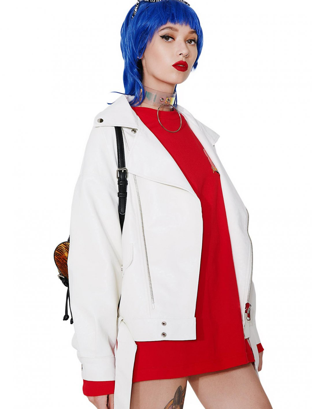 """Mabel's White Leather Jacket {""""id"""":5,""""product_section_id"""":1,""""name"""":""""Clothing"""",""""order"""":5} Dollskill"""