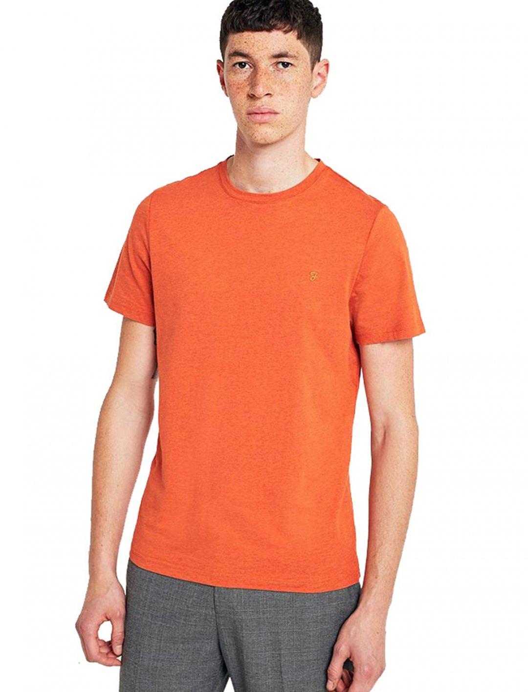 "Orange Marl T-shirt {""id"":5,""product_section_id"":1,""name"":""Clothing"",""order"":5} Farah"