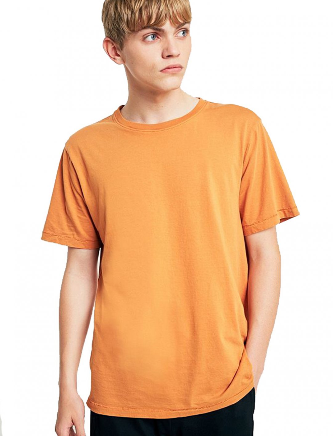 """Yellow Pigment Dye T-shirt {""""id"""":5,""""product_section_id"""":1,""""name"""":""""Clothing"""",""""order"""":5} Urban Outfitters"""