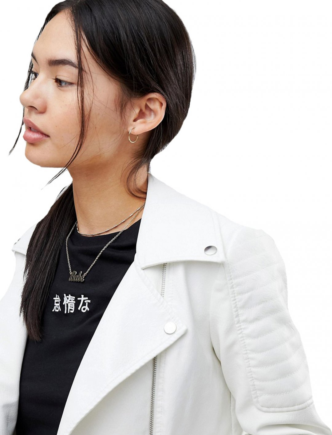 """Leather Look Jacket {""""id"""":5,""""product_section_id"""":1,""""name"""":""""Clothing"""",""""order"""":5} Noisy May"""