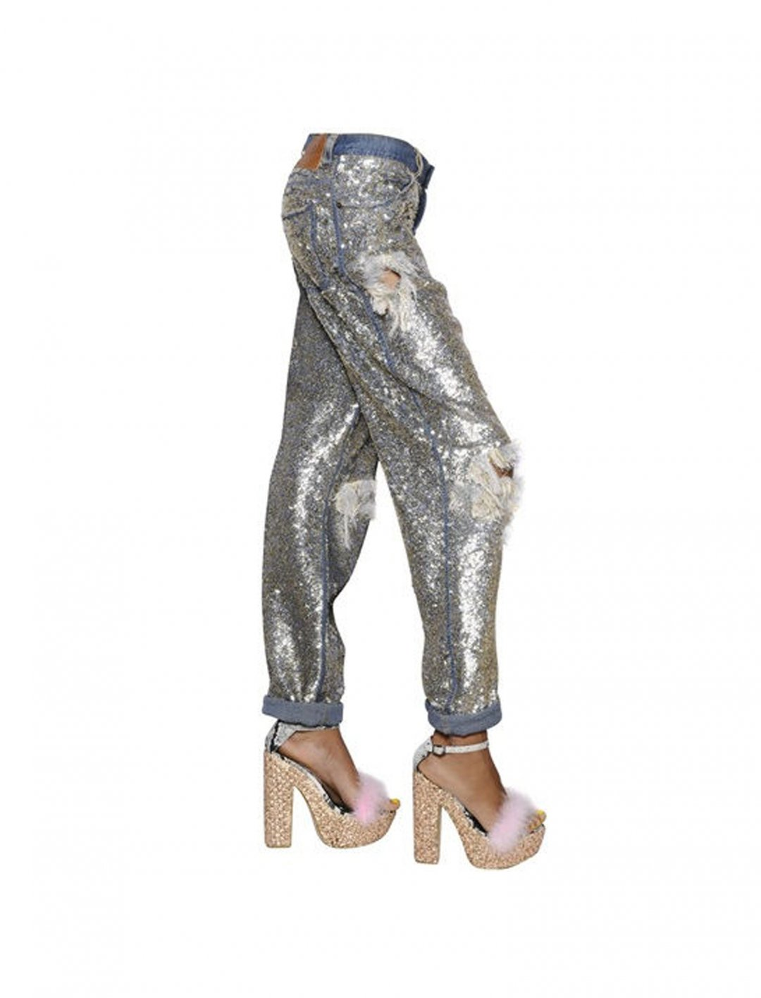 """Mabel's Destroyed Sequin Jeans {""""id"""":5,""""product_section_id"""":1,""""name"""":""""Clothing"""",""""order"""":5} Ashish"""