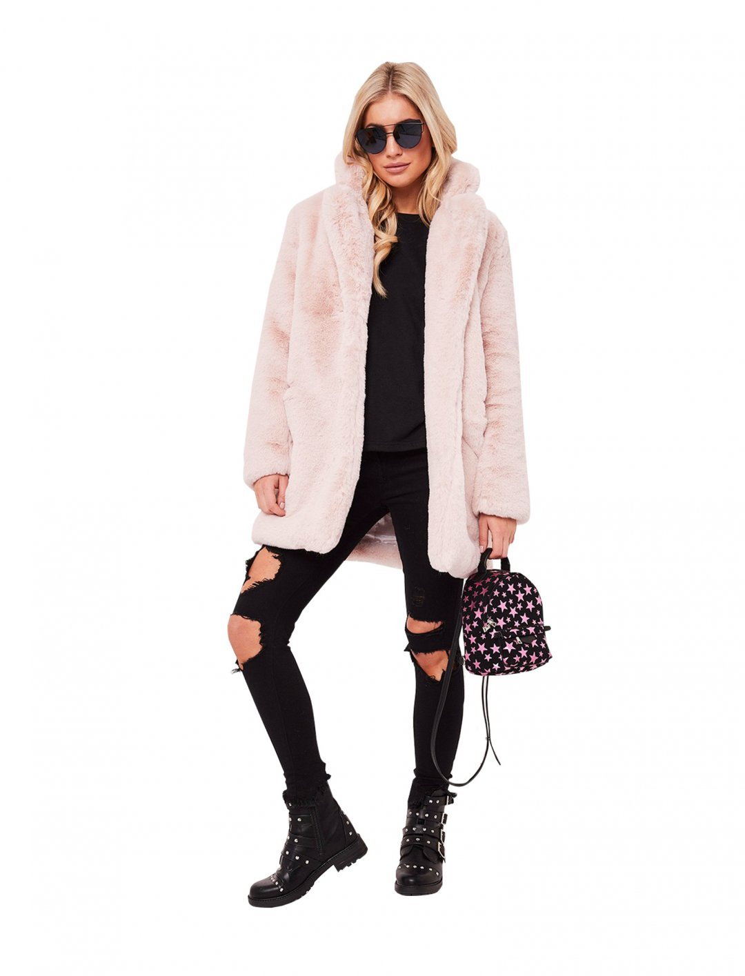 "Mabel's Faux Fur Coat {""id"":5,""product_section_id"":1,""name"":""Clothing"",""order"":5} Misspap"