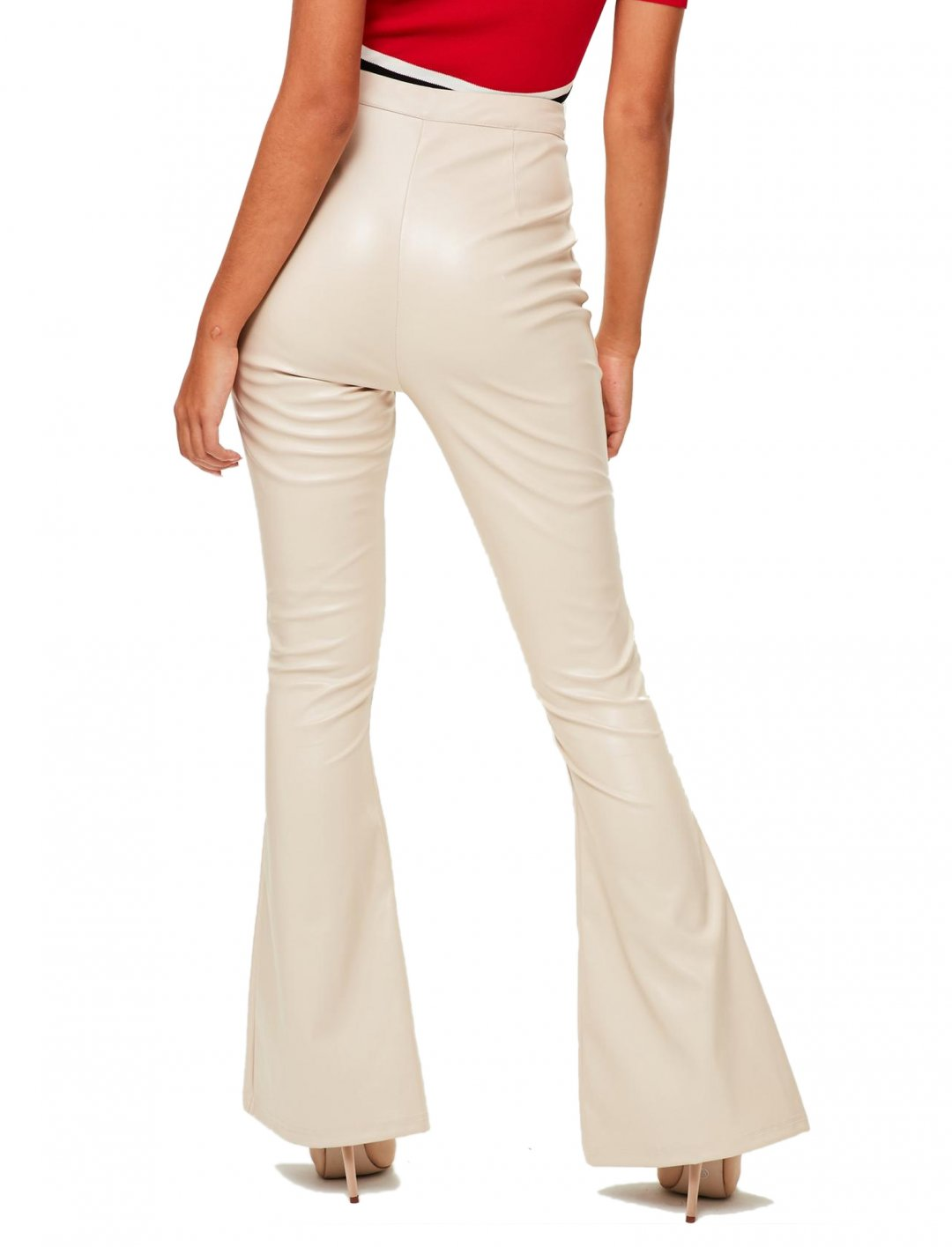 """Nude Faux Leather Trousers {""""id"""":5,""""product_section_id"""":1,""""name"""":""""Clothing"""",""""order"""":5} Missguided"""