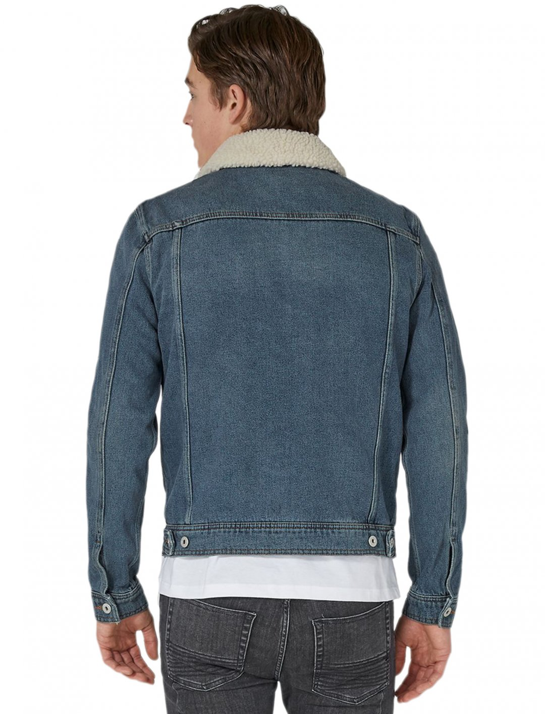 "Matt's Borg Denim Jacket {""id"":5,""product_section_id"":1,""name"":""Clothing"",""order"":5} Topman"