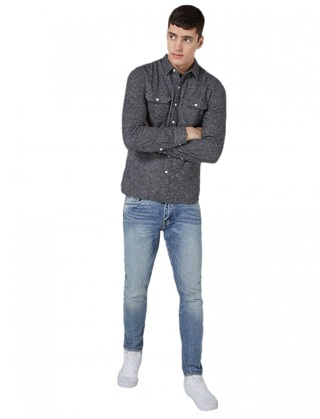 "Matt's Blue Tapered Jeans {""id"":5,""product_section_id"":1,""name"":""Clothing"",""order"":5} Levi's"