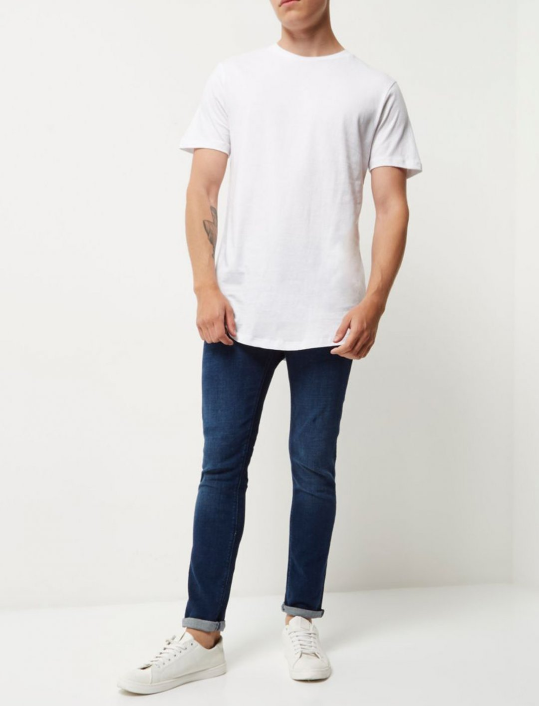 "White Longline T-Shirt {""id"":5,""product_section_id"":1,""name"":""Clothing"",""order"":5} River Island"