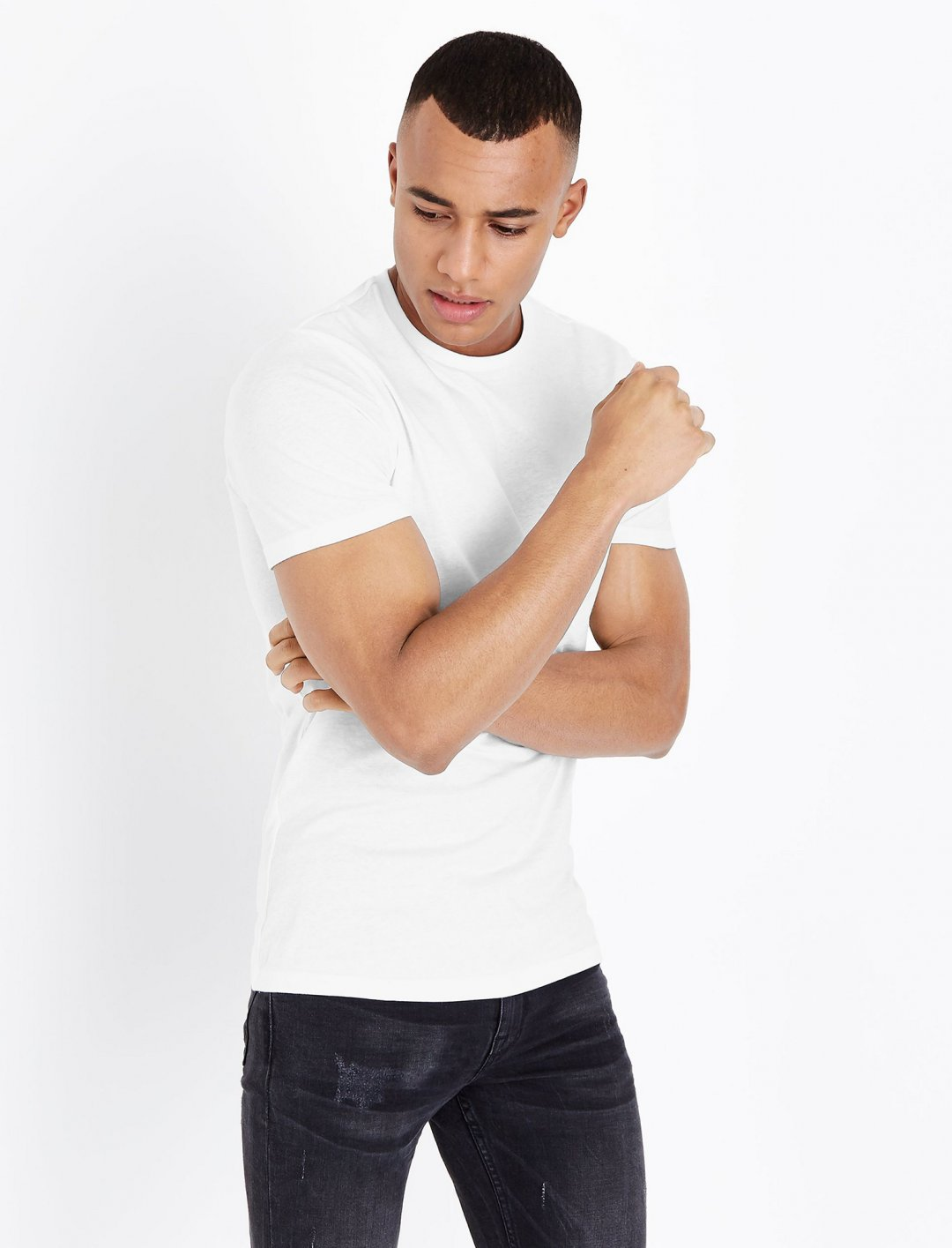 "White Short Sleeve T-Shirt {""id"":5,""product_section_id"":1,""name"":""Clothing"",""order"":5} New Look"